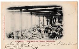 Grammont - Intérieur Et Cour D'une Fabrique D'Allumettes - Geraardsbergen