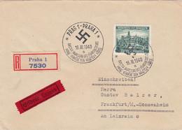 Deutsches Reich Bohmen Und Mahren R Brief 1940 - Occupazione 1938 – 45