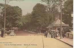 FRANCE - RARE EN COULEUR - PUTEAUX - Pont De PUTEAUX - Station Du Tramway - - Puteaux