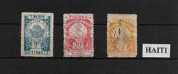 HAITI - 3 Timbres Fiscaux - 3 Revenue / Fiscal Stamps - Haití