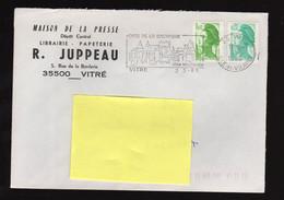 Nov20   89404  Enveloppe  En Tête  Maison De Presse  Juppeau    Vitré - Unclassified