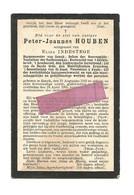D 854. PETER-JOANNES HOUBEN - Burgemeester GENCK/Deken Boerengilde - GENCK 1842 / 1905 - Devotion Images
