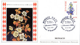 """""""  CONCOURS INTERNATIONAL DE BOUQUETS """" Sur Enveloppe 1er Jour De 2000 De Monaco. N° YT 2282. Parf état. FDC - Sonstige"""