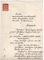 1920 KINGDOM OF SHS,SLOVENIA,LJUBLJANA,2 KR. REVENUE STAMP,LETTER APPLICATION FOR DIPLOMATIC SERVICE - Covers & Documents