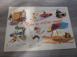 RIEN NE SERT DE COURIR  - EDITIONS LYONCOLOR - ANNEE 1970 - - Humour