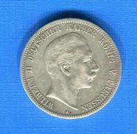 5  Mark  1900 - 2, 3 & 5 Mark Argent