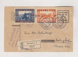 BOSNIA AND HERZEGOVINA SHS YUGOSLAVIA  1919 SARAJEVO Registered  Postal Stationery To Austria - Bosnie-Herzegovine