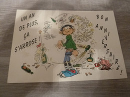 UN AN DE PLUS CA S'ARROSE - GASTON LAGAFFE - EDITIONS FRANQUIN - ANNEE 1992 - - Humor