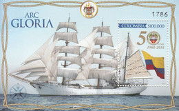 2018 Colombia Arc Gloria Ships Flags  Limited Edition Souvenir Sheet MNH - Colombia