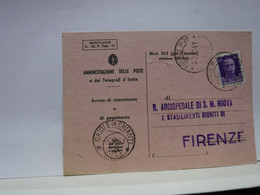 SIENA  E PROV. -- ANNULLO -TONDO -RIQUADRATO -FRAZIONALE --- GAIOLE IN CHIANTI --27-10-41 - Storia Postale