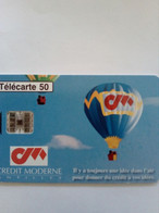 FRANCE PRIVEE EN1543 MONTGOLFIERE BANQUE CREDIT MODERNE ANTILLES 50U UT - 50 Einheiten