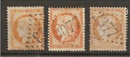 3 NUANCES Du N°38a, B, C TBE Dt Obli 3077 Raismes Cote 55€ - 1870 Besetzung Von Paris