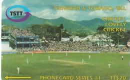 TRINIDAD & TOBAGO(GPT) - Cricket, Lovely Cricket, CN : 118CTTA(0 With Barred), Used - Trinidad & Tobago