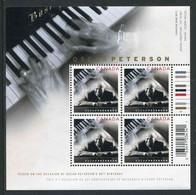 """BF** De 2005 Du CANADA Gommé De 4 Timbres """"80e Anniversaire D'OSCAR PETERSON Pianiste De Jazz Et Compositeur"""" - Blocchi & Foglietti"""