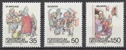 Liechtenstein 1990 Mi# 1008-10** WINTER CUSTOMS - Unused Stamps