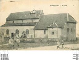 WW 52 HOERICOURT. Eglise Et Cimetière 1919 - Otros Municipios