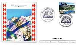 """"""" ANNEE INTERNATIONALE DE LA MONTAGNE """" Sur Enveloppe 1er Jour De 2002 De Monaco. N° YT 2355. Parfait état. FDC - FDC"""