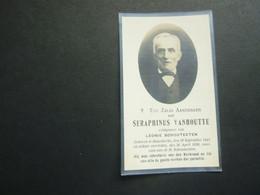 Doodsprentje ( 3813 )  Vanhoutte / Schouteeten -  Snaaskerke   1926 - Avvisi Di Necrologio