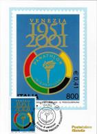 Cartolina Maximum: PANATHLON INTERNAZIONALE 2001 - Maximum Cards