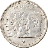 Monnaie, Belgique, 100 Francs, 100 Frank, 1954, TTB+, Argent, KM:138.1 - 09. 100 Francs