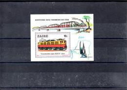 Zaire H.B.31 Tema Trenes Catalogo 15 € MNH - Trains