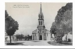 CPA CESTAS ( Gironde ) Place De L'Eglise Saint André - Other Municipalities