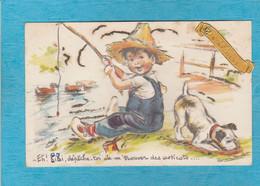 Illustrateurs :  Germaine Bouret, Saint-Nicolas. - Eh ! Kiki, Dépêche-toi De M'trouver Des Asticots ... - Ajout Découpi. - Bouret, Germaine