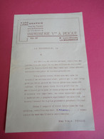 Imprimerie Veuve A PEIGUE/ Typographie Lithographie/Bd Luois Choussy/LA BOURBOULE/Vers 1915       FACT326 - Imprimerie & Papeterie