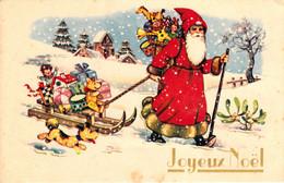 Thematiques Fantaisie Père Noël Joyeux Noël Luge - Santa Claus