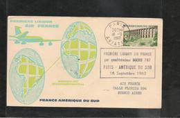 16-9-1960 PREMIÈRE LIAISON  PARIS-AMÉRIQUE DU SUD PAR BOEING 707 - Eerste Vluchten