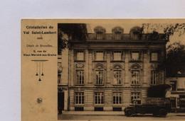Cristalleries Du Val Saint-Lambert ,Dépôt De Bruxelles. Vieux Marché Aux Grains .Ancien Camion. - Places, Squares