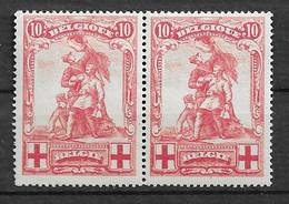 OBP127 In Paar, Postfris** Aan 10% V.d. Cataloguswaarde - 1914-1915 Red Cross