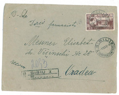 CIP 15 - 210-a SIBIU - REGISTERED Cover - Used - 1947 - Covers & Documents