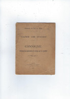 Livret   Chemins De Fer De L'etat Avec 16 Pages  Annee 1917  Gare De Niort 79  Consigne  Reglant Les Manoeuvres - Railway & Tramway