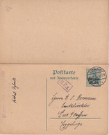 ALLEMAGNE POSTGEBIET OST 1916    ENTIER POSTAL/GANZSACHE/POSTAL STATIONARY CARTE AVEC REPONSE DE KOWNO - Stamped Stationery