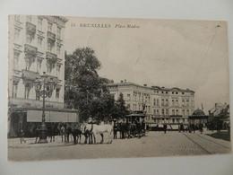 85.- Bruxelles  .-Place Madou. Tram Tirer Par Des Chevreaux. Fabrique-Brasserie Royale. - Monuments, édifices
