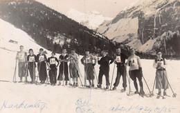 Carte-Photo -  Skirennen - Skifahrer - 1935 - BE Berne