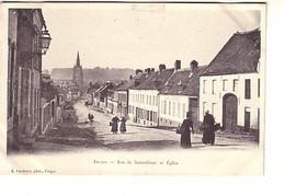Fruges Rue De Saint Omer Et église - Fruges
