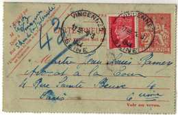 Ww2 - Guerre 39 - Pneumatique - CPP 2606 Et Affranchissement Complémentaire - 2. Weltkrieg 1939-1945