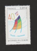 FRANCE / 2012 / Y&T SERVICE N° 153 ** : CONSEIL DE L'EUROPE (Centre Européen De La Jeunesse) X 1 - Neufs