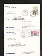 4-4-1972 PREMIÈRE LIAISON AÉRIENNE PARIS-POINTE A PITRE CAYENNE PAR BOEING 747 - Eerste Vluchten