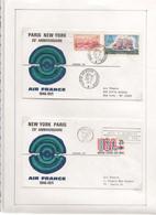 24-6-1971 25 ème ANNIVERSAIRE LIAISON PARIS NEW YORK PAR BOEING 747 - Eerste Vluchten