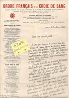 ORDRE FRANCAIS DE LA CROIX DE SANG . PARIS . LETTRE A UN POETE - Documentos Históricos