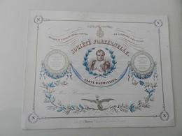 Tournai- Cartes Porcelaine Voir Recto Verso.(Dos Petite Tache De Encre) Société Fraternelle Carte D'admission,Tournay - Tournai