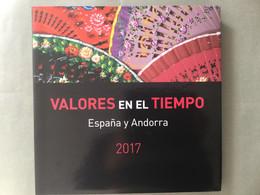 Libro Sellos España 2017 - Vacío Sin Sellos Como Nuevo Con Filoestuches - Ganze Jahrgänge