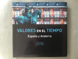 Libro Sellos España 2018 - Vacío Sin Sellos Como Nuevo Con Filoestuches - Ganze Jahrgänge