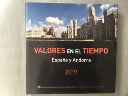Libro Sellos España 2019 - Vacío Sin Sellos Como Nuevo Con Filoestuches - Ganze Jahrgänge