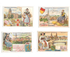 Lot De 4 Chromos SUCHARD : Detmold,Dresden,Schwerin,Sondershausen - Suchard