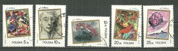 POLAND Oblitéré 2818-2822 Stanislas Ignacy Withiewicz Peintre Art Tableau - Used Stamps