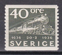 Md_ Schweden Sverige 1936 - Mi.Nr. 234 - Postfrisch MNH - Eisenbahnen Railways - Treni